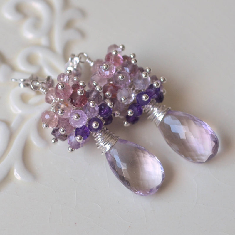 Pink Amethyst Earrings