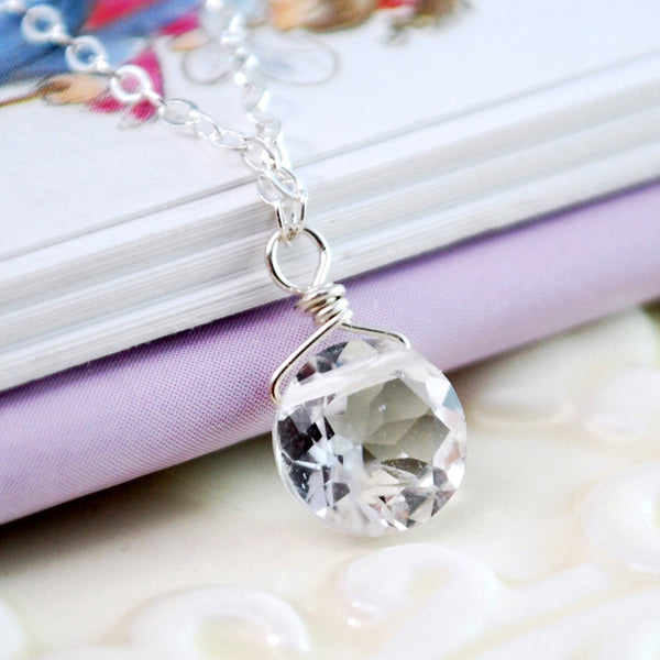 First Diamond Necklace for Children with Crystal Quartz Stone
