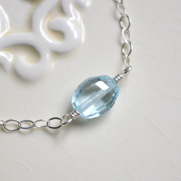 Genuine Blue Topaz Bracelet for Girls