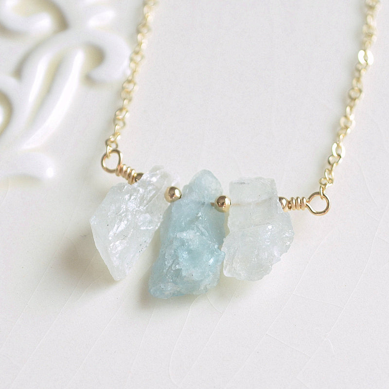 Natural Aquamarine Necklace