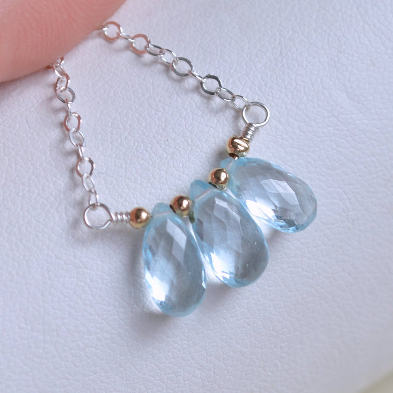 Real Blue Topaz Necklace