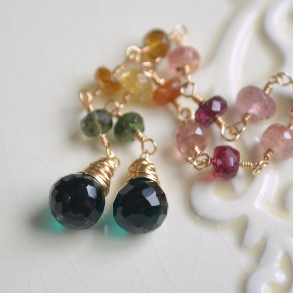 Long Tourmaline Earrings