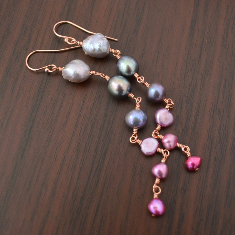 Long Pearl Earrings