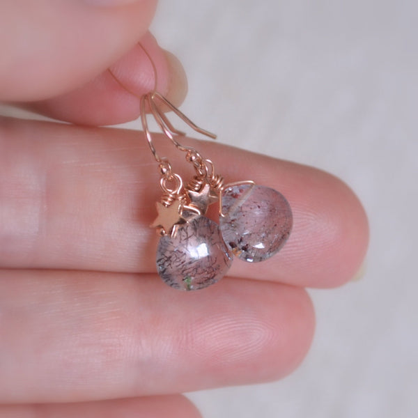 Moss Amethyst Earrings