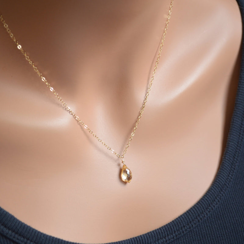 Real Citrine Necklace
