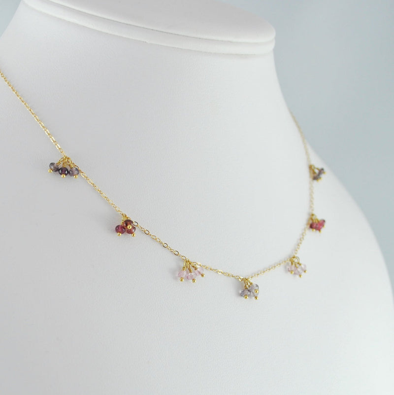 Gemstone Choker Necklace with Spinel Gemstones