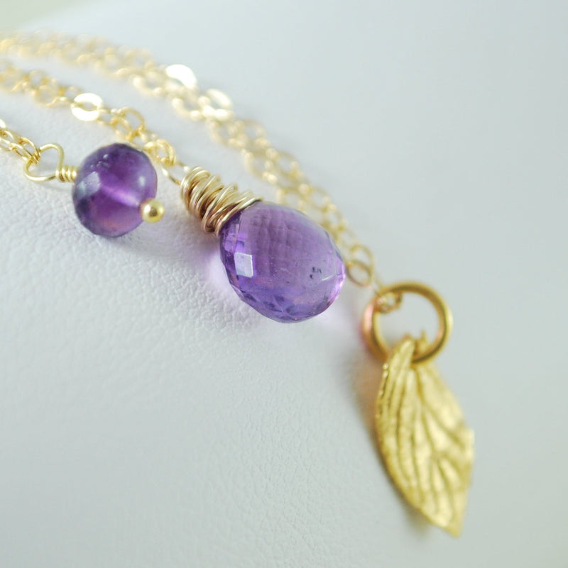 Amethyst Necklace Layering Set