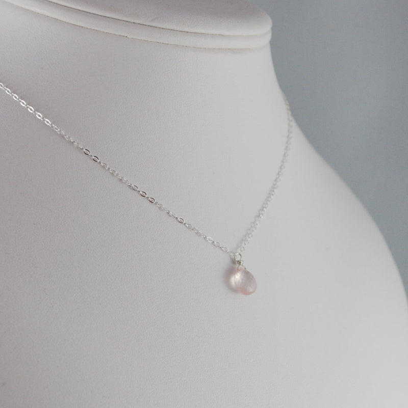 Rose Quartz Pendant Necklace
