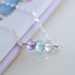 Child's Family Necklace with Real Birthstones
