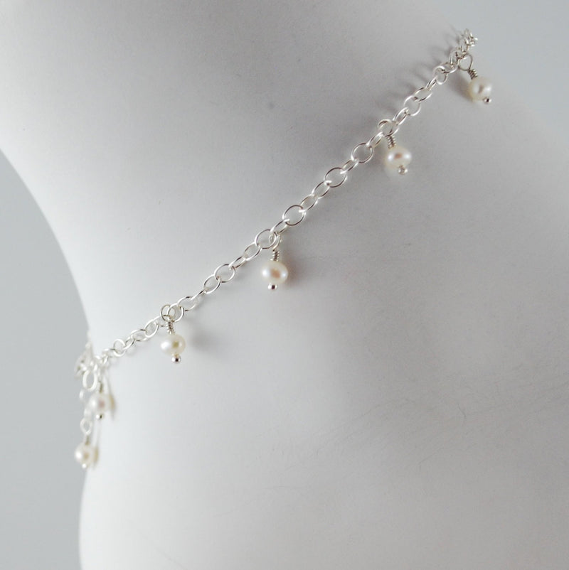Real Freshwater Pearl Anklet for Girls