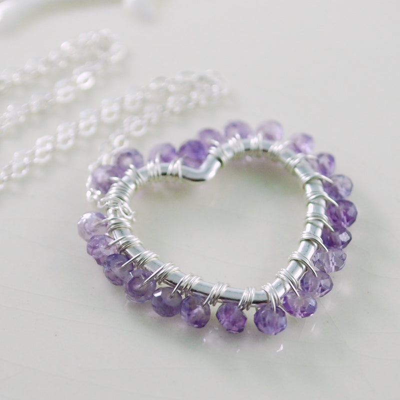 Real Amethyst Jewelry with Purple Gemstone