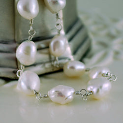 Keishi Pearl Necklace with Natural Genuine Freshwater Pearls