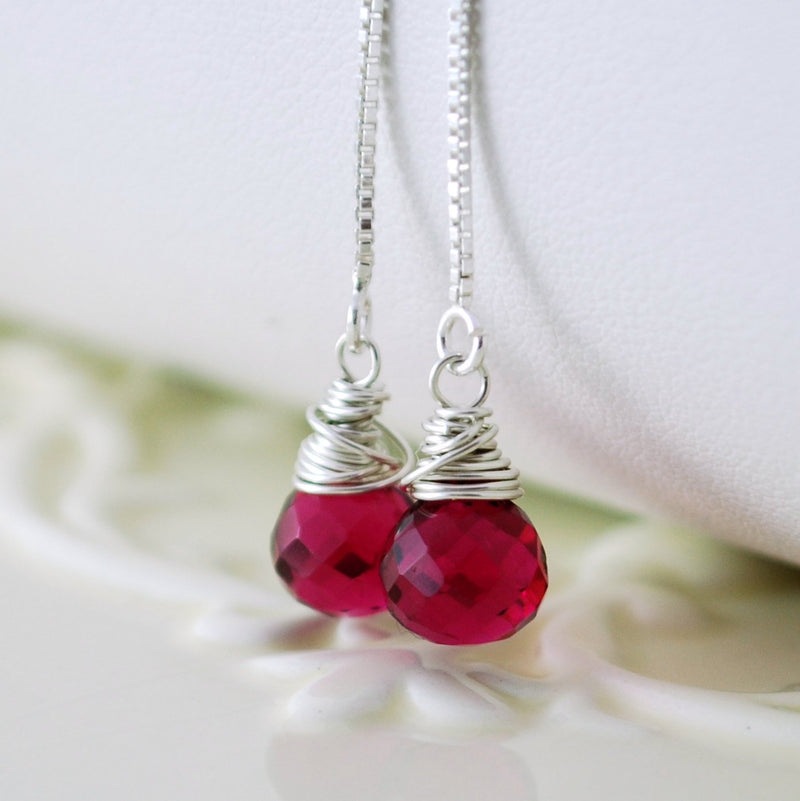 Fuchsia Quartz Earrings