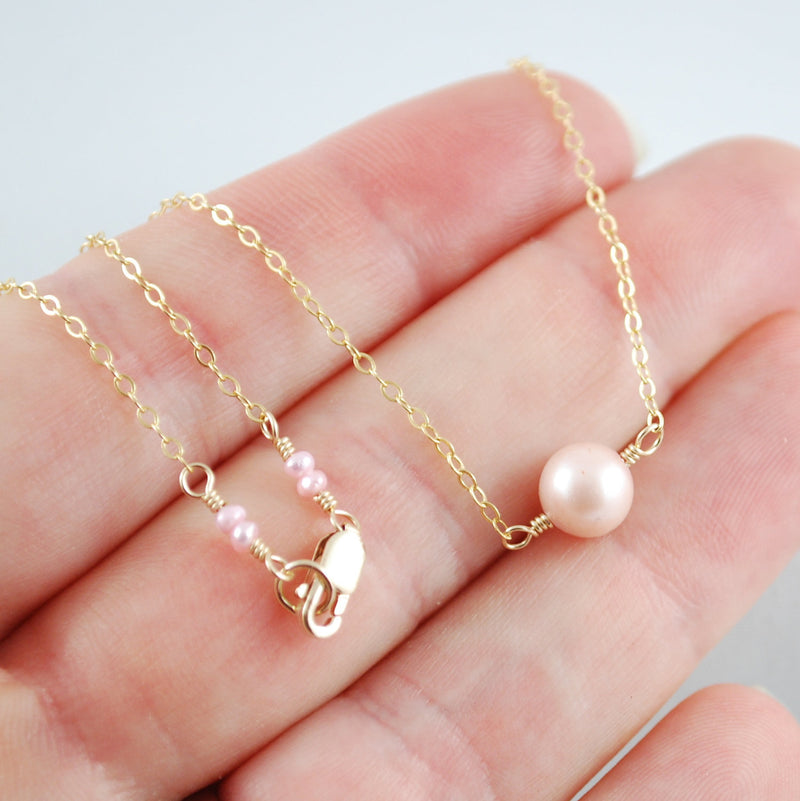 Mother Daughter Pearl Necklace Set
