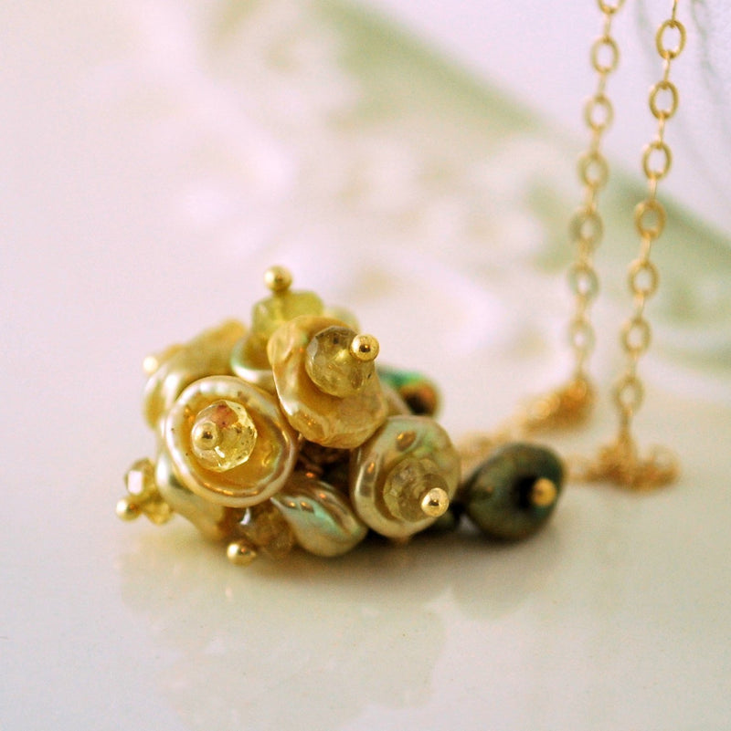 Gold Keishi Pearl Necklace