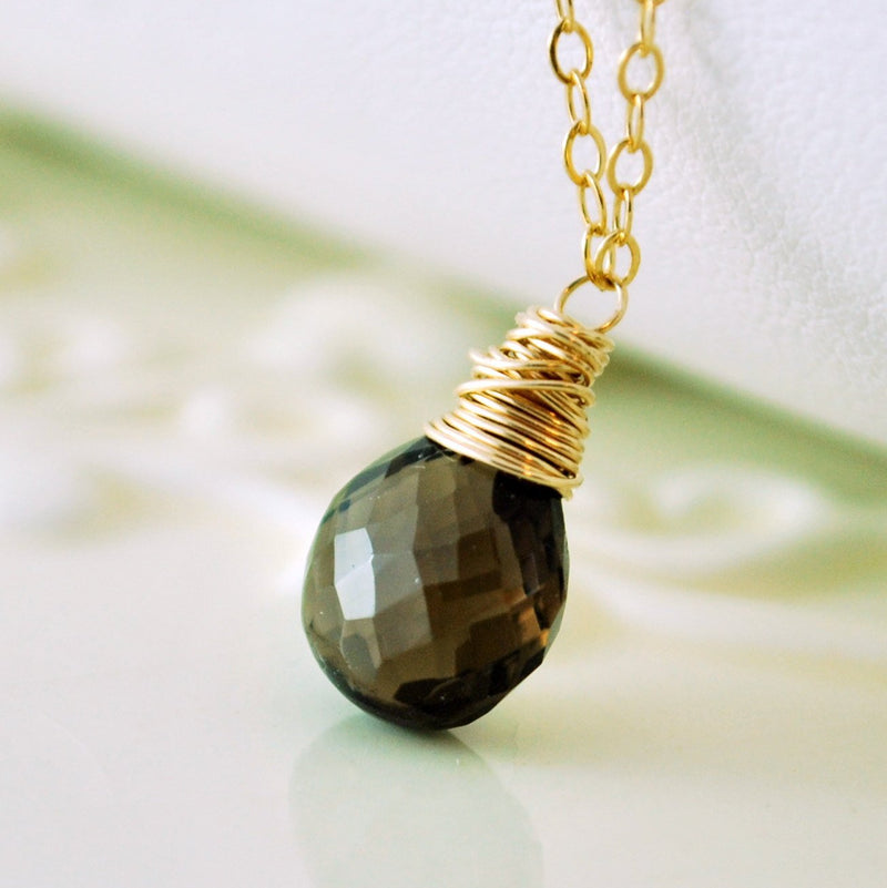 Smoky Quartz Necklace Layered Set