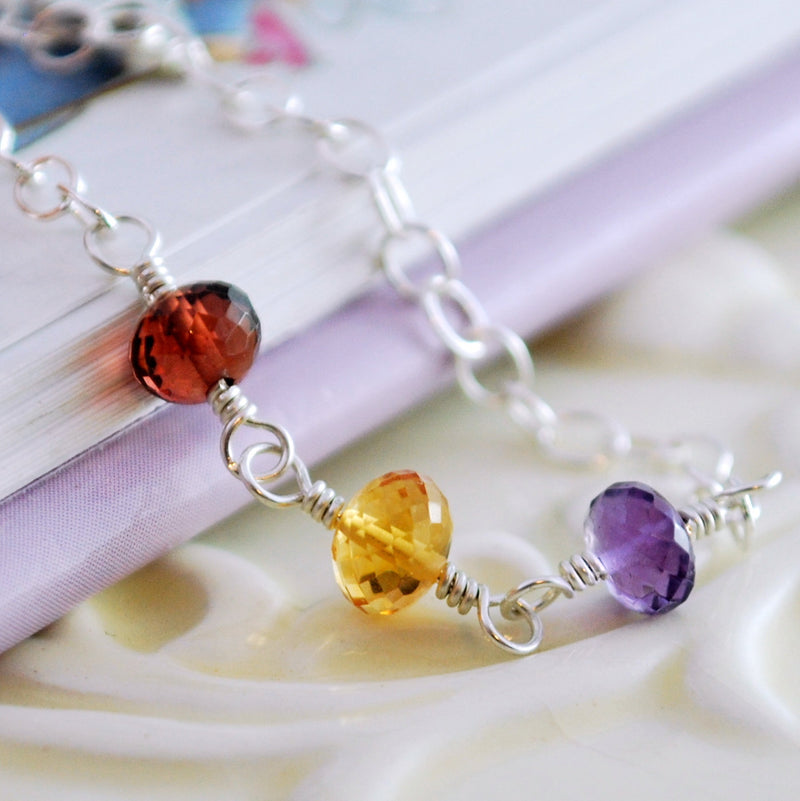 Custom Birthstone Bracelet for Child