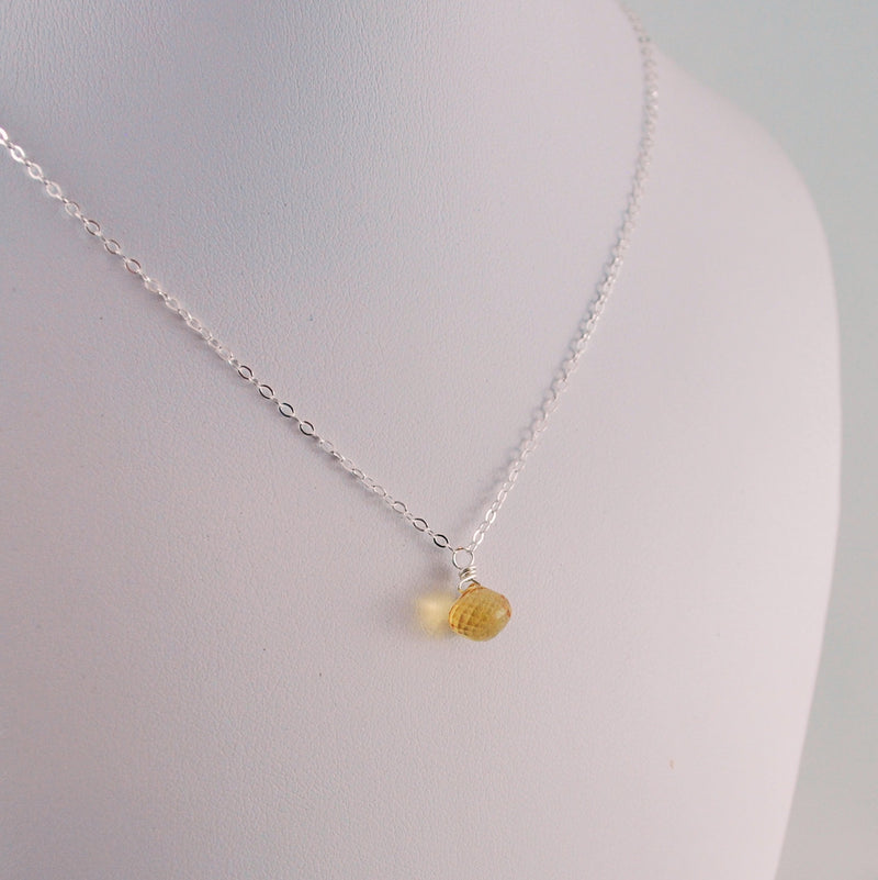 Citrine Pendant Necklace for Child