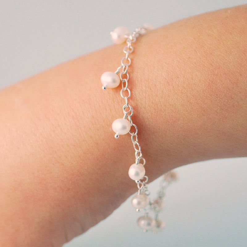 White Pearl Bracelet for Girls