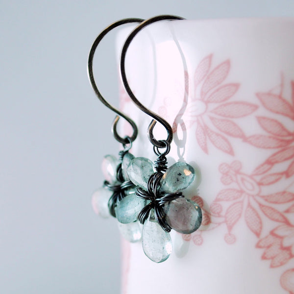 Moss Aquamarine Earrings