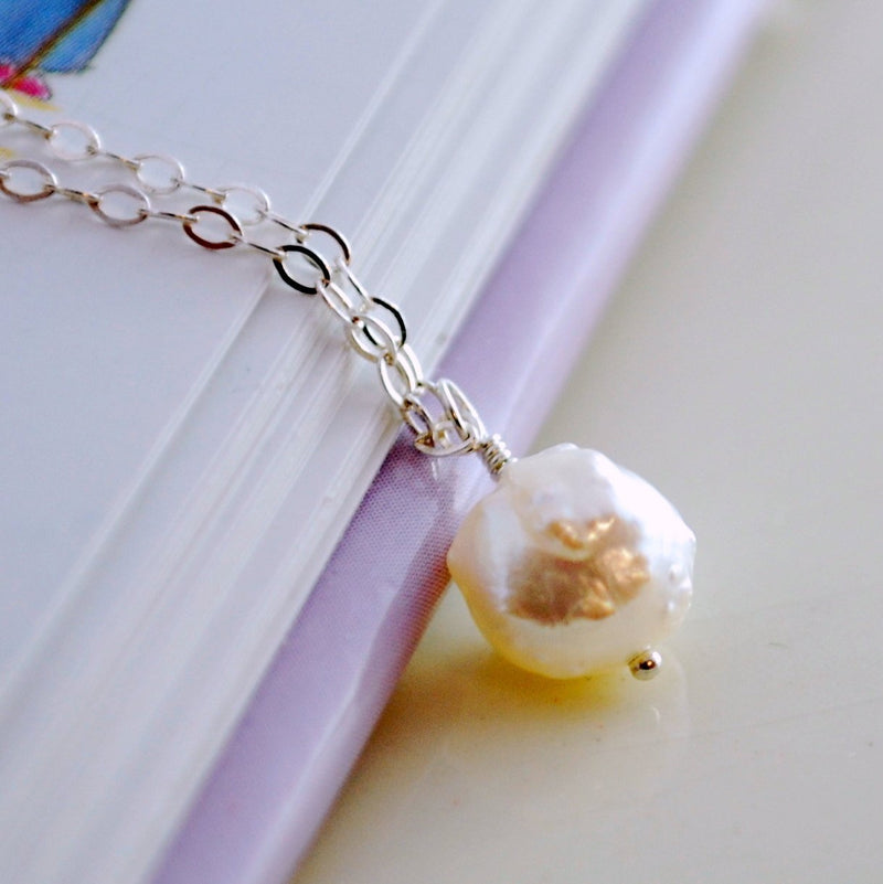 Pearl Snowball Necklace for Girls