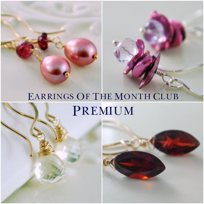 Premium Earrings of the Month Club Six Moth Subscription