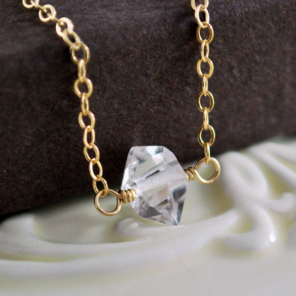 Herkimer Diamond Choker Necklace