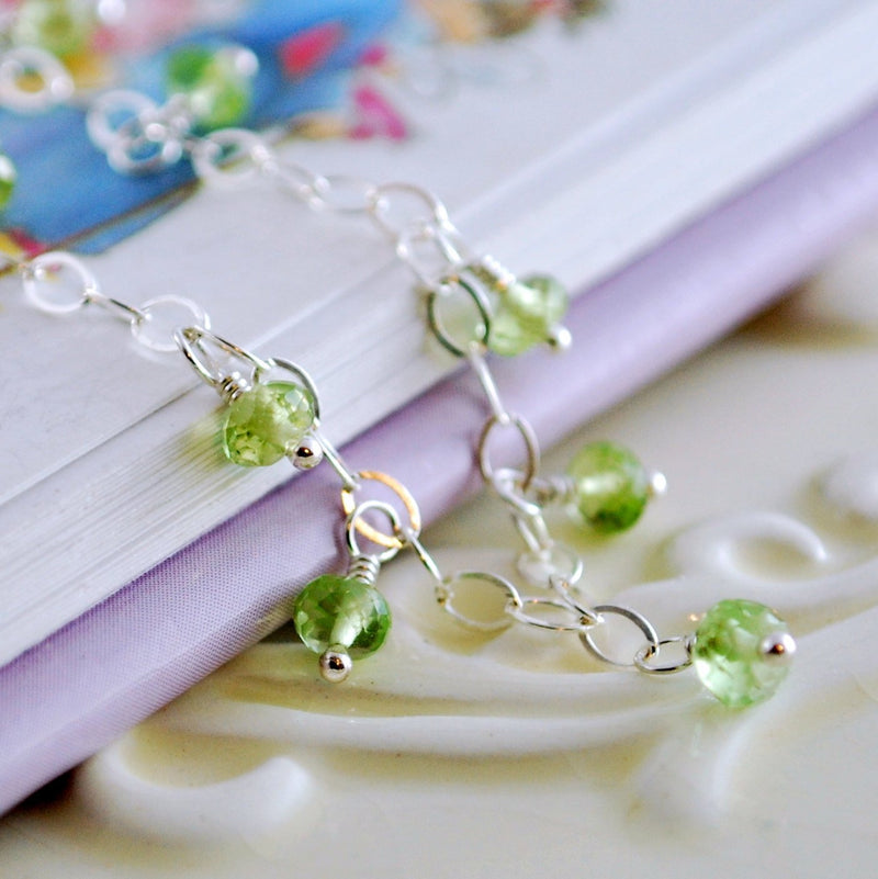 Real Peridot Bracelet for Girls