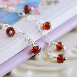 Genuine Garnet Bracelet for Girls