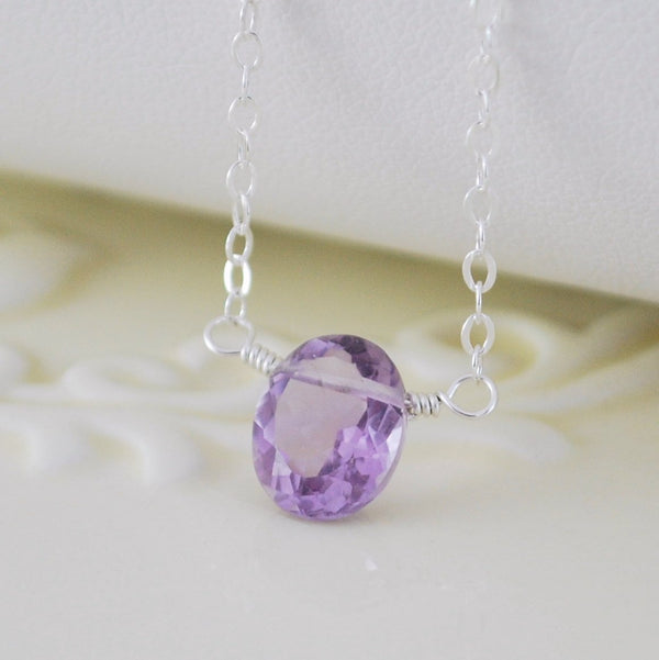 Pink Amethyst Necklace