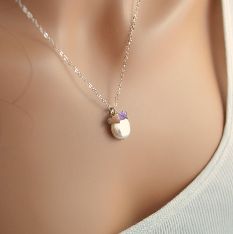 Coin Pearl Necklace for Mother's Day