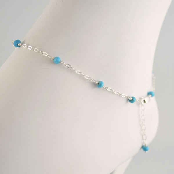 Real Turquoise Anklet
