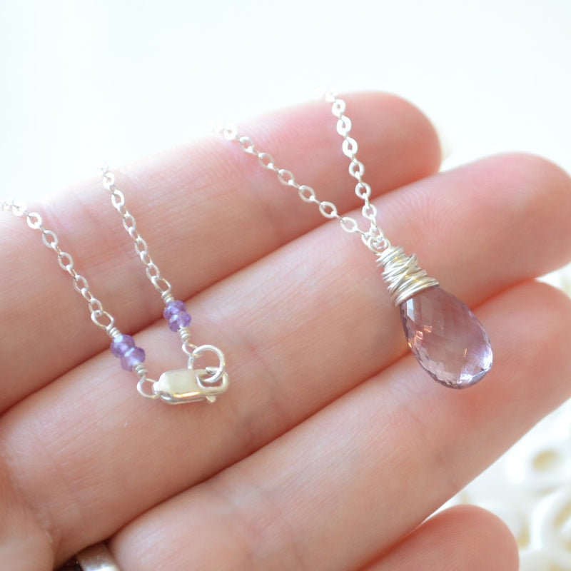 Ametrine Necklace with Lavender Gemstone
