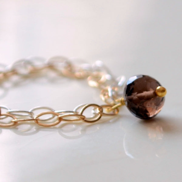 Smoky Quartz Ring, Chocolate Brown Gemstone
