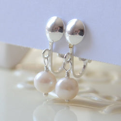 Clip On Pearl Earrings for Child