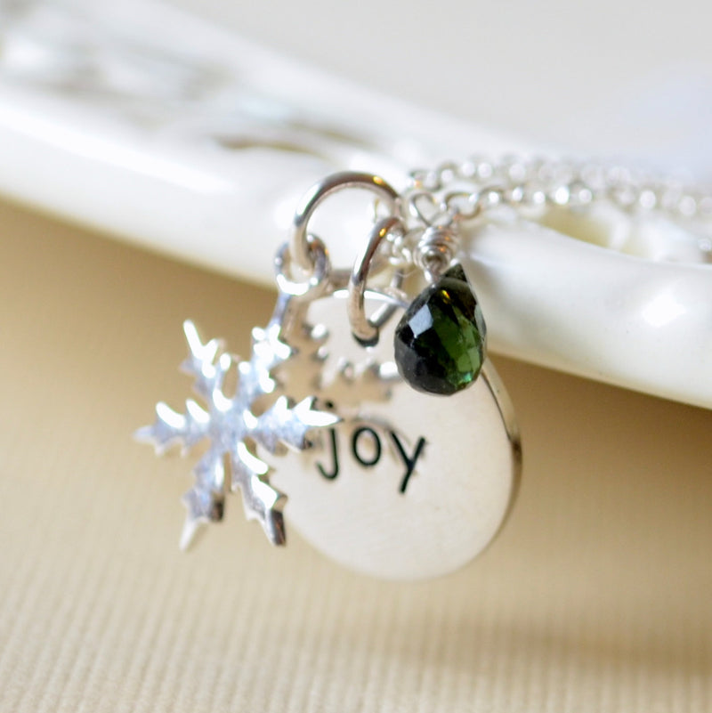 Christmas Necklace with Snowflake Charm