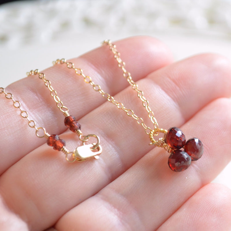 Garnet Necklace with Gemstone Onion