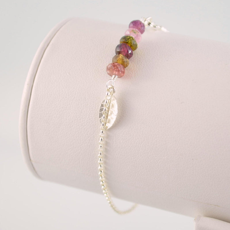 Tourmaline Bracelet with Genuine Semiprecious Stones