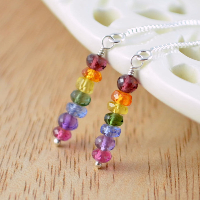 Rainbow Threaders with Bright, Genuine Gemstone Stacks