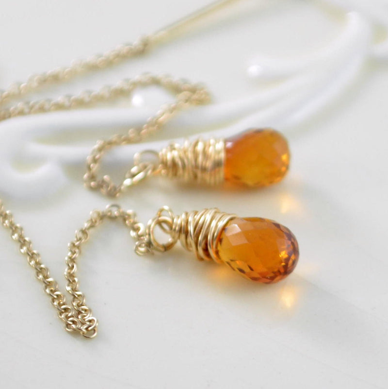Madeira Citrine Earrings