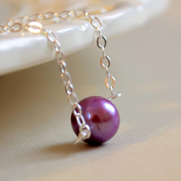 Plum Choker Necklace