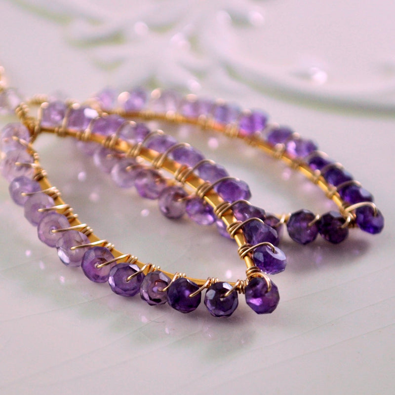 Reserved - Genuine Amethyst Earrings
