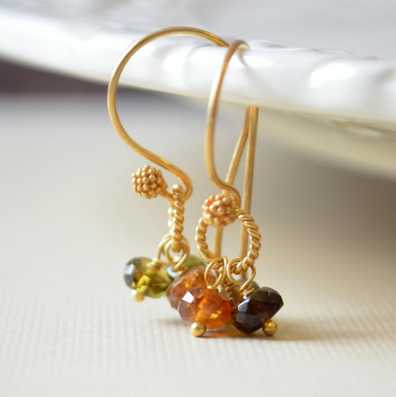 Tourmaline Cluster Earrings