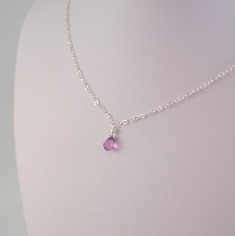 June Birthstone Necklace for Girls