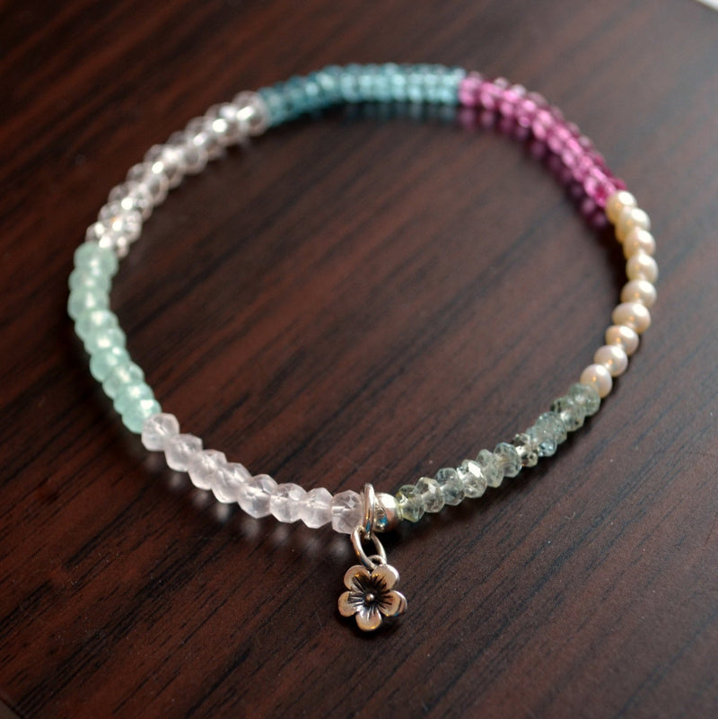 Pastel Gemstone Stretch Bracelet