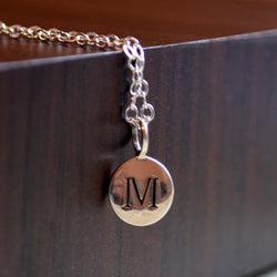 Initial Necklace in Sterling Silver for Tweens