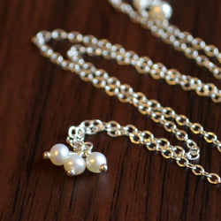 Dainty White Pearl Necklace for Girls
