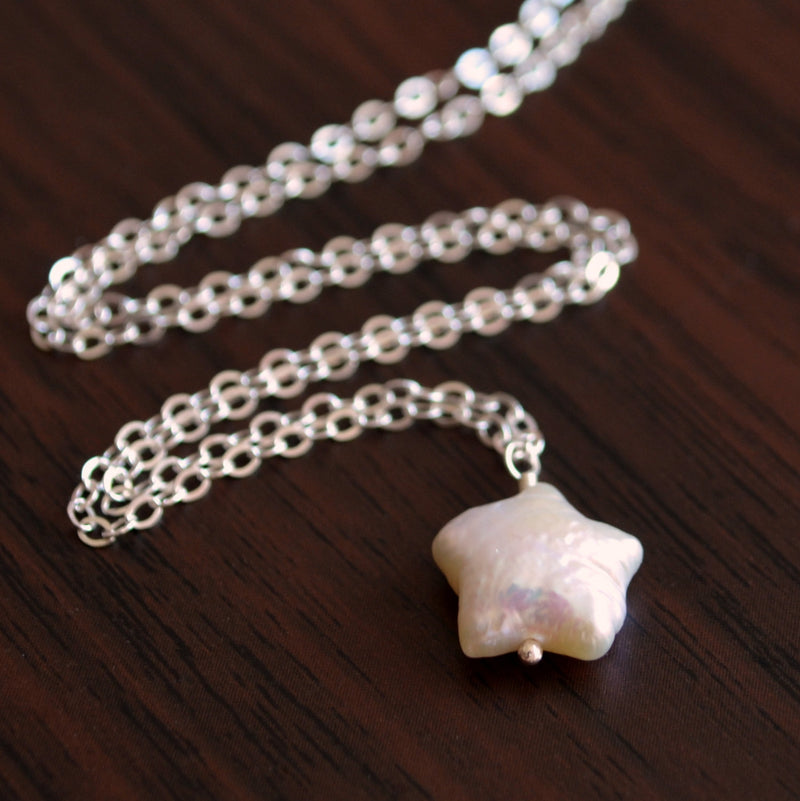 Star Shaped Pearl Necklace for Girls