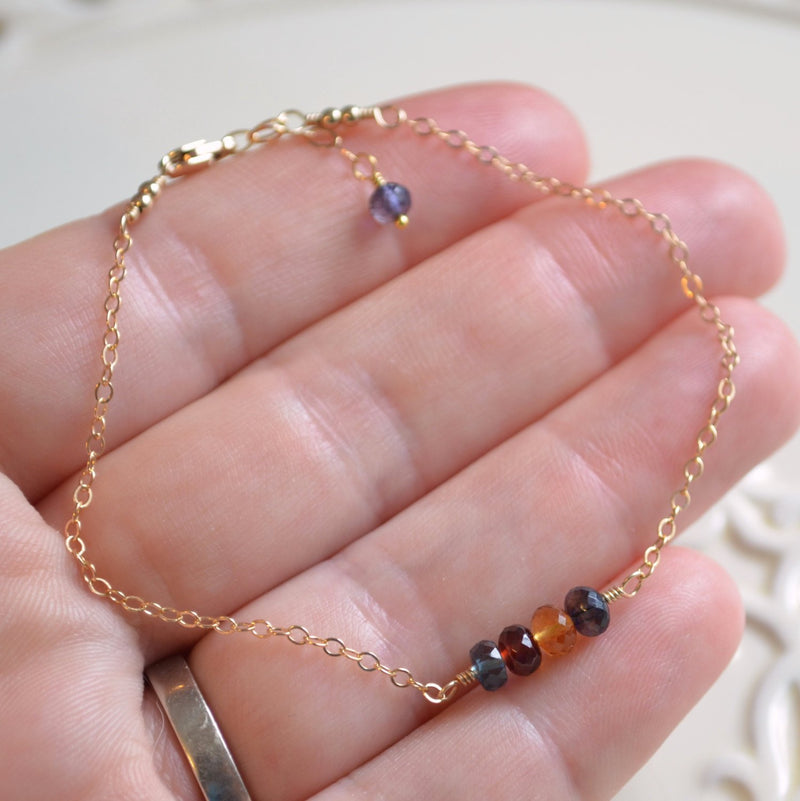 Delicate Family Bracelet in Gold or Sterling Silver