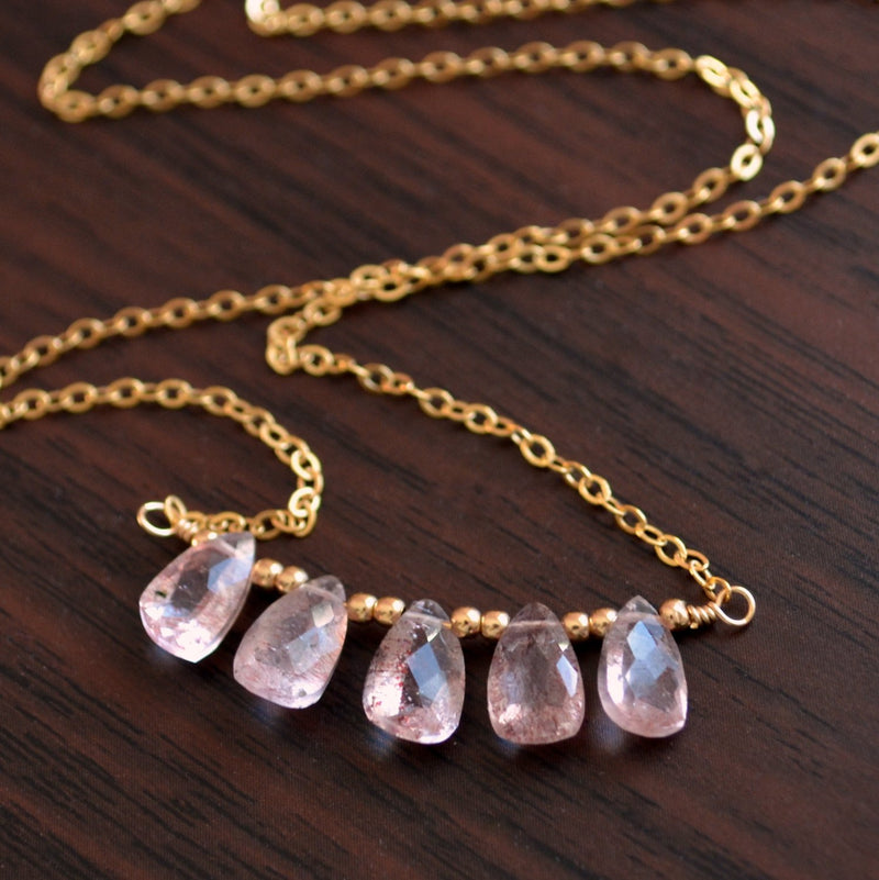 Gemstone Necklace with Lepidocrocite